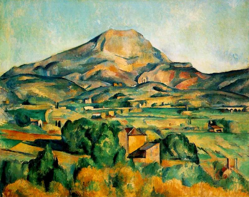 Cezanne's painting of Mt. Sainte Victoire