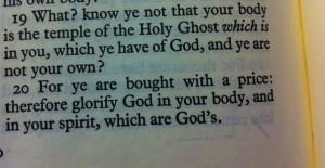 I Corinthians 6:19