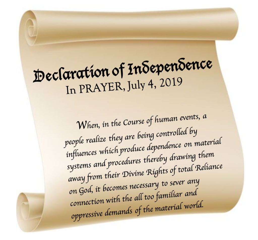 spiritual independence, spiritual declarations, the spirit of independence, spirit of independence, freedom from evil, freedom from satan, dependence on God, depending on God