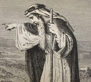 picture of a Bible prophet, to be a profitopen his eyes that he may see