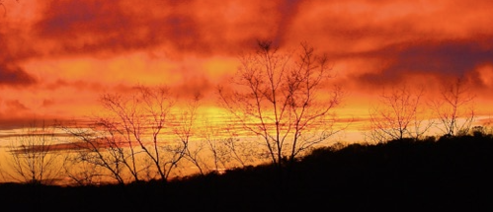 Sunset, glorify God