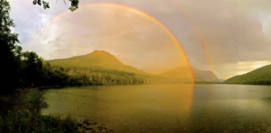 double rainbow, God's will to heal