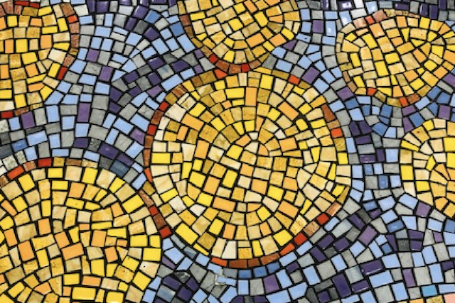 orange and blue mosaic, is it ever God's will you are not healed