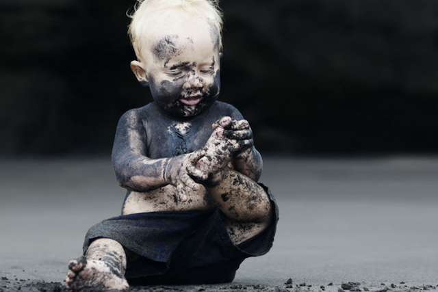 toddler playing in the mud, Are You Grateful God Created You